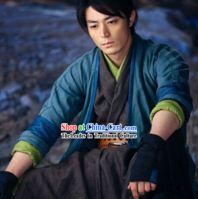 Kung Fu Master Swordsman Costumes Complete Set for Men