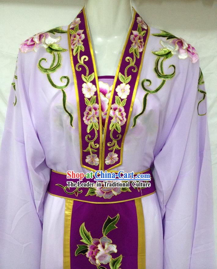 Traditional Chinese Purple Hua Dan Clothes