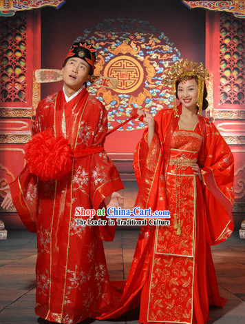 9a943753e Chinese Folk Wedding Outfits for Men and Women