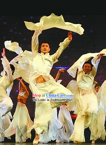 Pure White Male Dance Costumes for Both Student and Professional Dancers