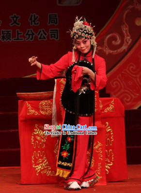 Peking Opera Hua Dan Costumes and Headdress Complete Set