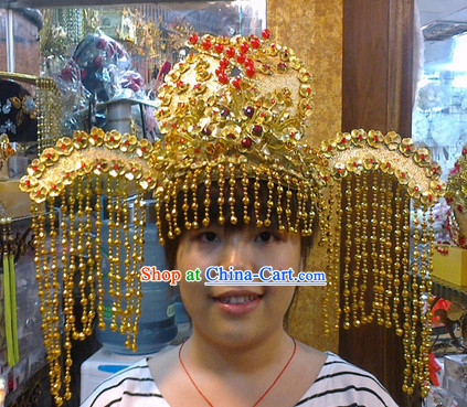 Ancient Chinese Wang Zhaojun Phoenix Wedding Hat