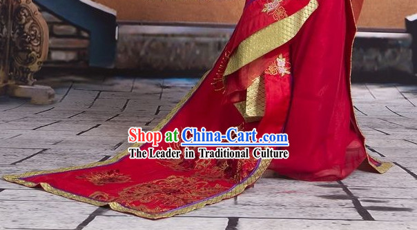 Chinese Princess Guzhuang Hanfu Clothes for Kids
