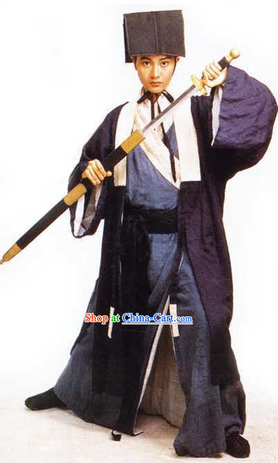 Xiao Ao Jiang Hu Yue Lingshan Swordman Clothes and Hat Complete Set
