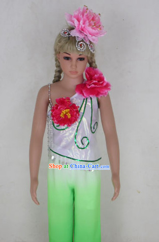 Professional Stage Performance Flower Dancing Costumes