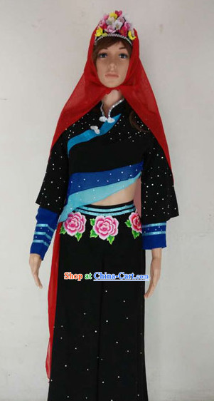 Professional Stage Performance Fisherwoman Dance Costumes