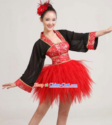 df63aaeec Traditional Short Hanfu Changed Style Dance Costumes
