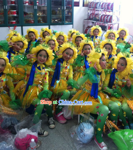School Students Scarecow Dance Costumes Complete Set