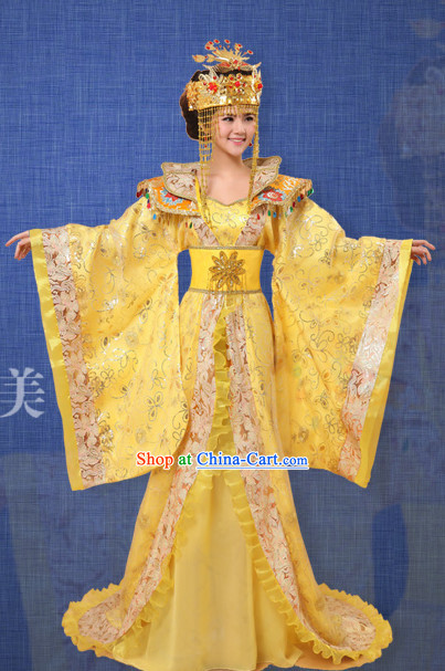 Ancient Chinese Film and Video Empress Garment and Headwear