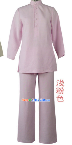 Top Comfortable Pink Meditation Yoga Tea-making Kung Fu School Suits