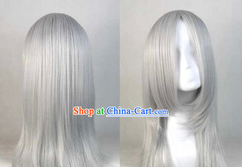 Ancient Chinese Style Grey Hair Wig for Men