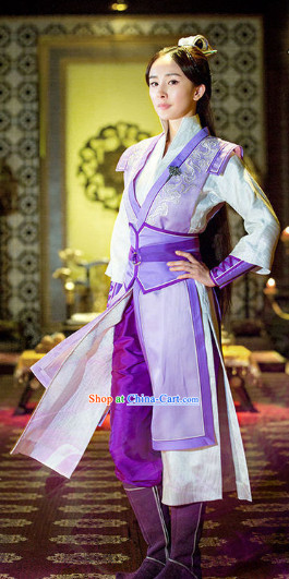 Legend of Ancient Sword Purple Swordswoman Costume Complete Set