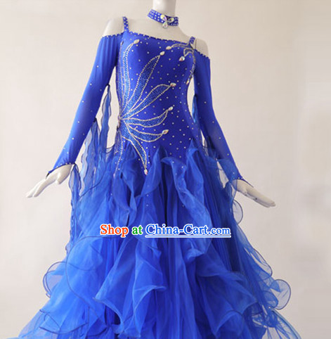 Special Custom Make Top Red Social Dancing Competition Costume for Women