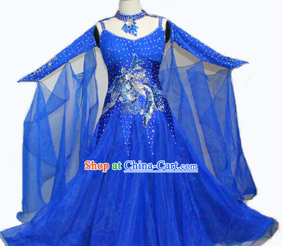 Professional Top Custom Make Blue Dance Queen Suit