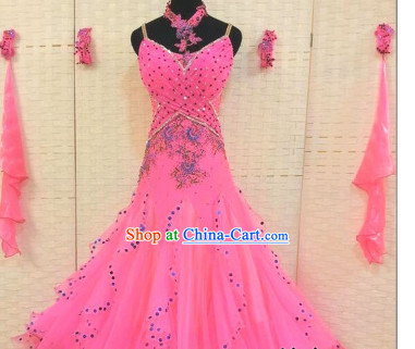 Professional Custom Dance Skirt Modern Dancing Ballroom Waltz Dress Competition Costumes