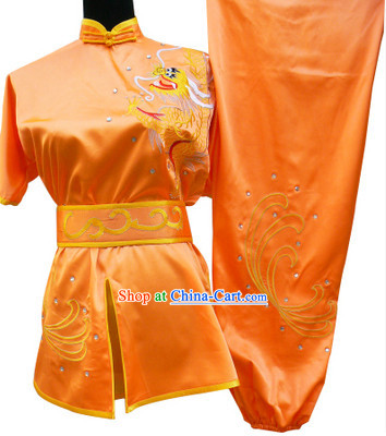 Top Silk Short Sleeves Kung Fu Suit