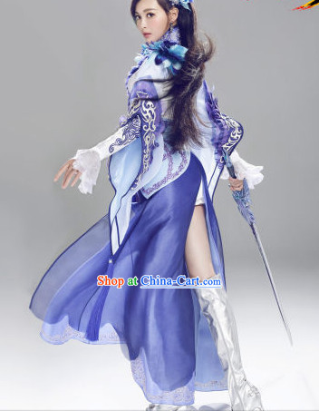 Internet Games Character Heroine Costumes and Hair Accessories