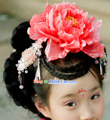 Traditional Chinese Hanfu Wig for Kids