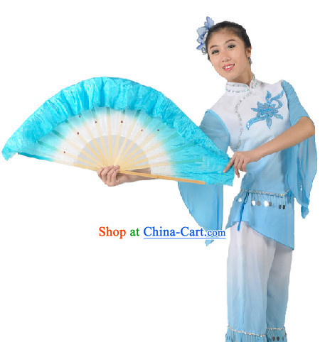 Traditional Yangge Dancing Costumes and Fan for Women