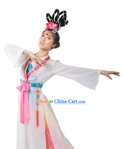 Classical Dance Team Costume and Headdress