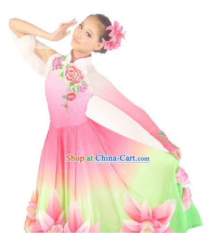 Professional Stage Performance Flower Dance Costumes Suit for Women