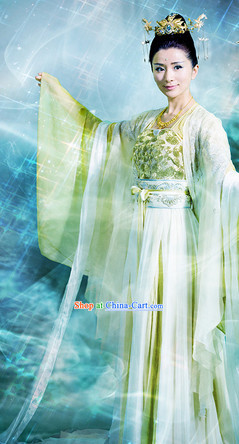 Gu Jian Qi Tan Lengend of the Ancient Sword TV Drama Female Fairy Costumes Complete Set
