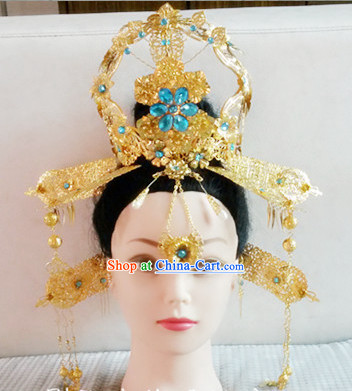 Ancient Chinese Empress Hair Ornaments Set and Wig