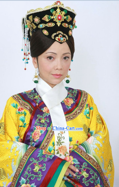 The Chinese Qing Dynasty Empress Clothing for Women