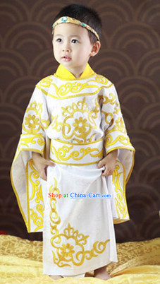 Traditional Chinese Prince Birthday Clothes for Baby