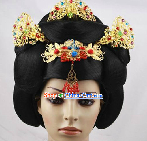 Ancient Chinese Empress Hair Accessories and Wig