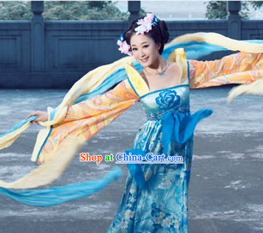 Tang Dynasty High Collar High Waisted Clothes for Women