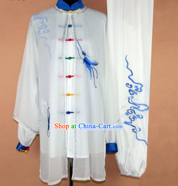 Silk Gong Fu Tai Chi Embroidered Dresses Complete Set