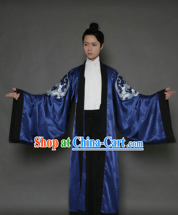 Embroidered Dragon Huafu Upper Garment Pants Beizi Cloak Complete Set