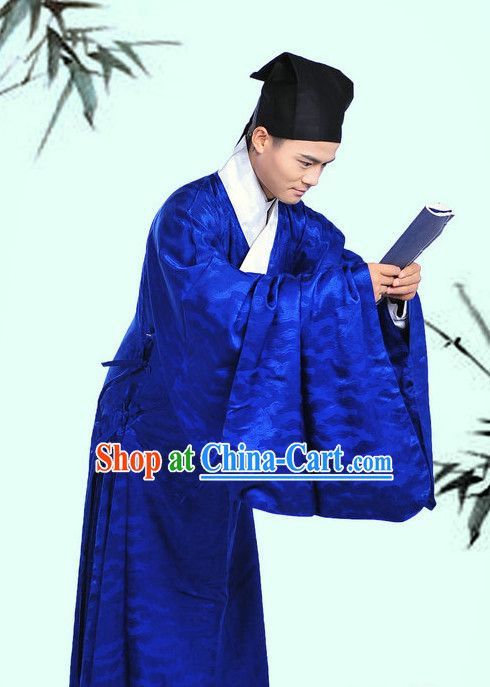 Daopao Imperial Civil Service Gown and Hat Complete Set for Men