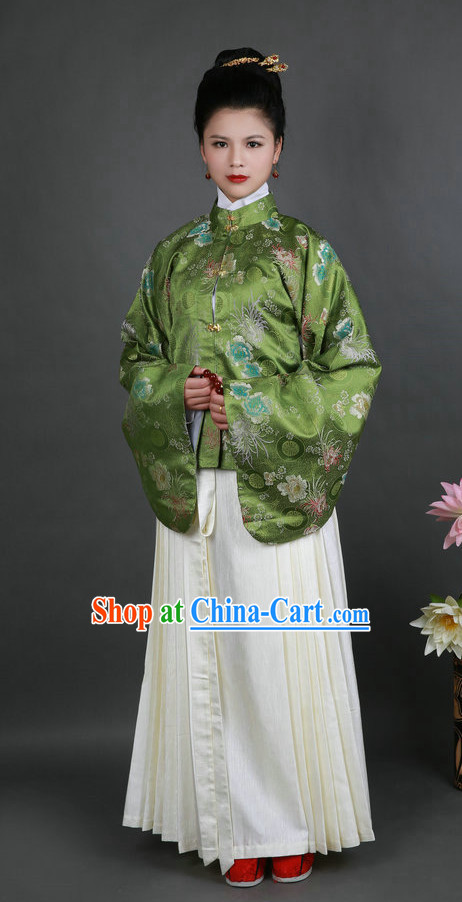 Ming Dynasty Hanfu Everyday Court Dress Changfu Jacket and Skirt for Women