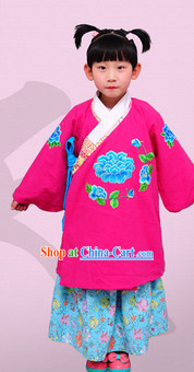 Ming Dynasty Hanfu Clothes and Jackt for Kids