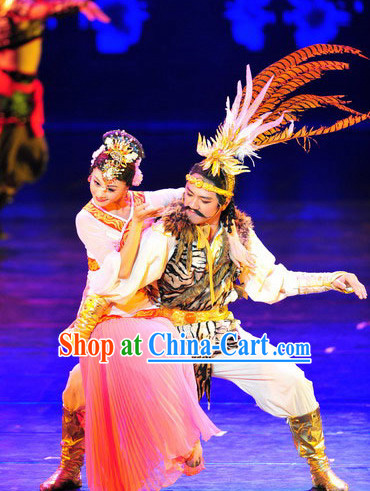 Zhaojun Chu Sai Stage Performance Costumes and Hair Accessories Complete Set