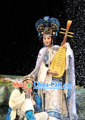 Wang Zhaojun Chinese Opera Costumes and Headpieces Complete Set