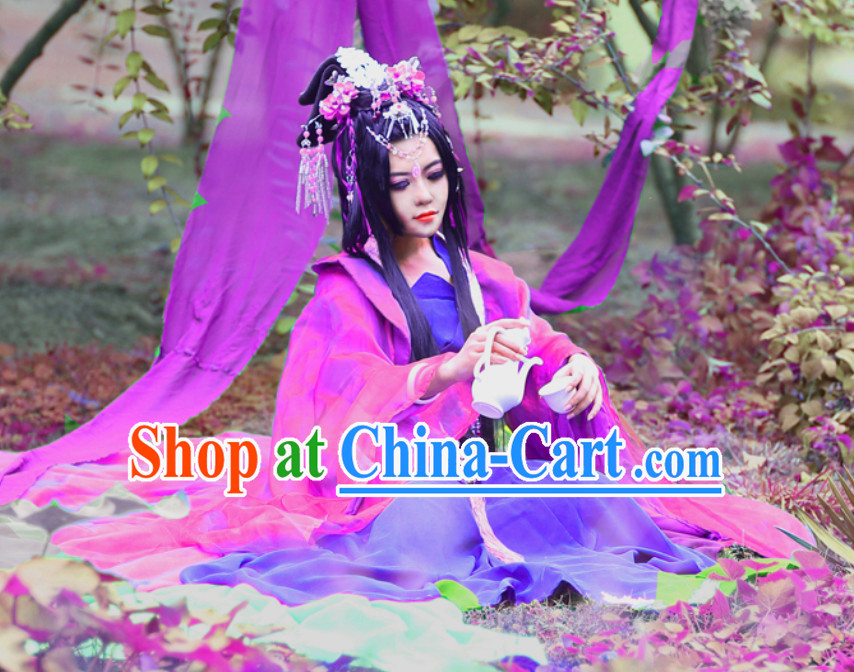 Chinese Empress Clothing and Hair Jewelry Complete Set