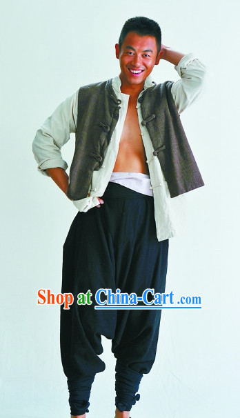 Chinese Red Sorghum TV Drama Series Folk Clothing Suit for Men