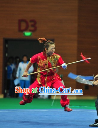 Top Shaolin Kung Fu Competition Silk Uniform