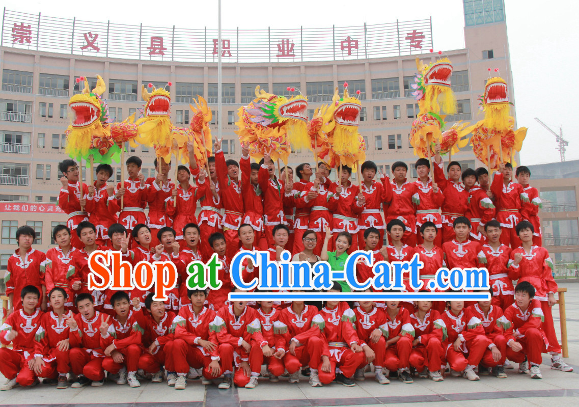 Chinese Dragon Costume Adult Complete Set for Four People
