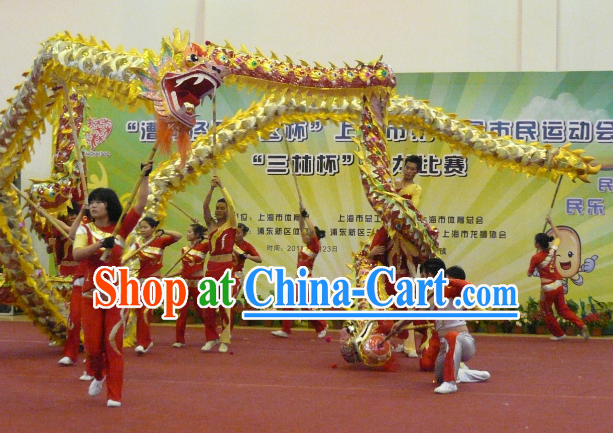 Handmade Lightweight Dragon Dance Equipment Complete Set for Middle School Teenagers