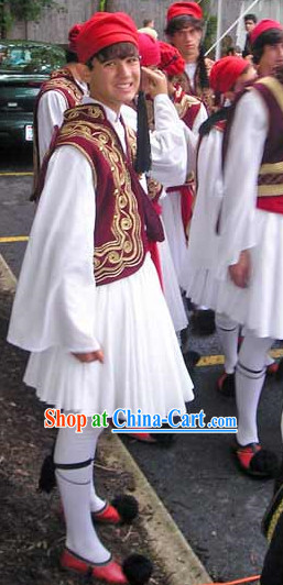 Teenager Boy Greek National Costumes Complete Set