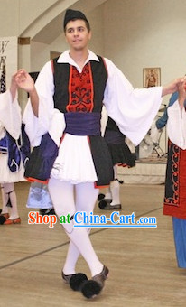 Male Greek Dance Costumes Complete Set