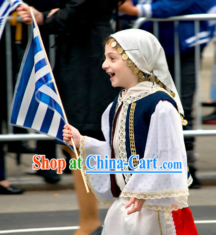 Child Greek Costume Complete Set