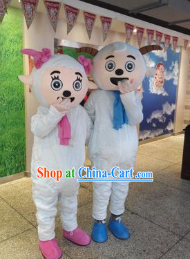 Chinese New Year Celebration Xi Yang Yang Happy Sheep Mascot Costume Complete Set