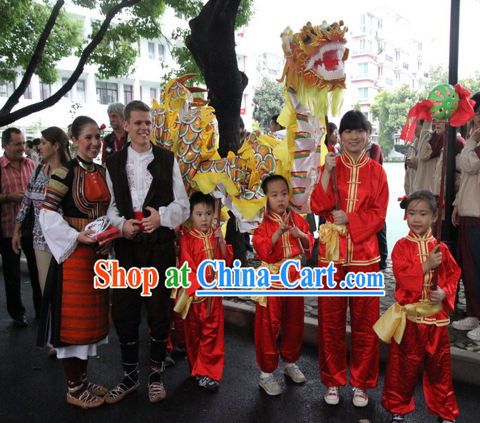 Chinese New Year Dragon Costume Complete Set for Kids