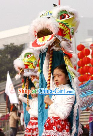 One Person Happy New Year Celebration Traditional Lion Dance Costumes