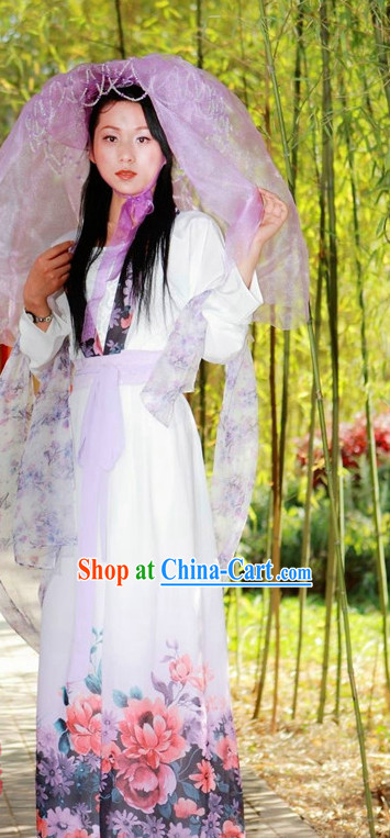Asian Dress Costume Complete Set for Girls